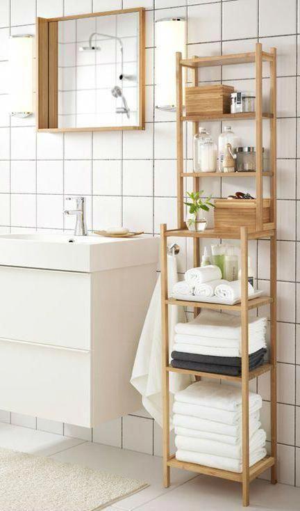 Ragrund Shelf Unit Bamboo 13 Ikea In 2020 Diy Bathroom Storage Small Bathroom Storage Small Bathroom Design Plans