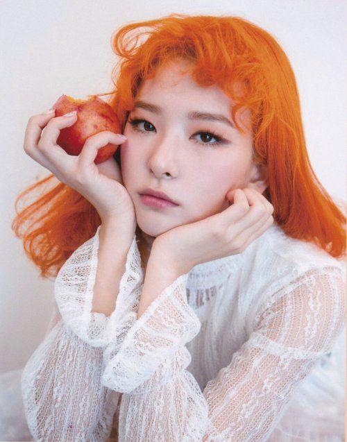 An Interview With Jung Moung Shim Of Korean Salon Jenny House Red Velvet Orange Hair Red Velvet Seulgi
