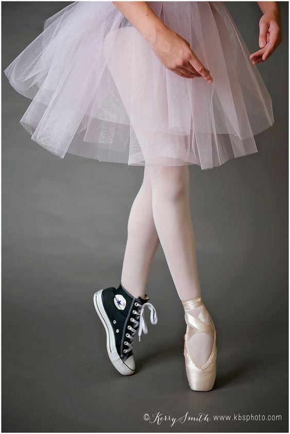 Dance Portraits. Dancer photos. Recital photos. Dance costume. Ballet. Ballerina. Pointe. Pointe shoe and converse all star shoe. Tutu. Senior girl dancer photos. Dancer girl. kbsphoto. richmond VA studio photographer. Kerry B Smith Photography. LOVE THIS!!