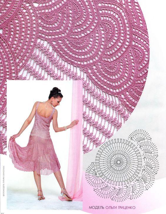 Patrones de Crochet: Para Hook, Hook, Crochet Dresses, Crochet Clothes, Crochet Vestito, Crochet Skirts, Crochet Tops, Patron Crochet Falda Jpg 750