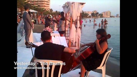 GUITARRA Y CHELO boda Area Sunset La Manga - Musica bodas Cartagena Murc...