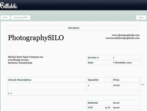 downloadable invoice billable_photographysilo_post photography - how to do a invoice