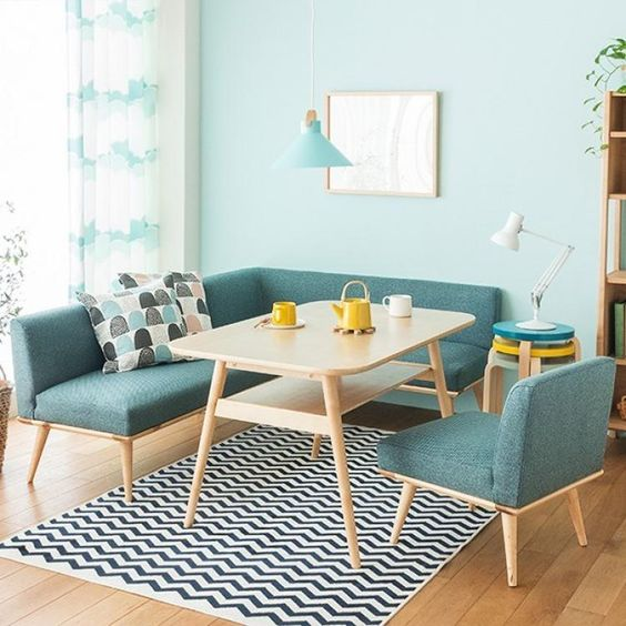 Ruang tamu pakai cat toska? Tamu lebaran langsung pada betah! (Foto: Edarhome dan Pinterest).