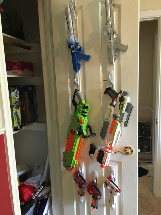 Command Hooks Super Easy Nerf Gun Storage For Kids