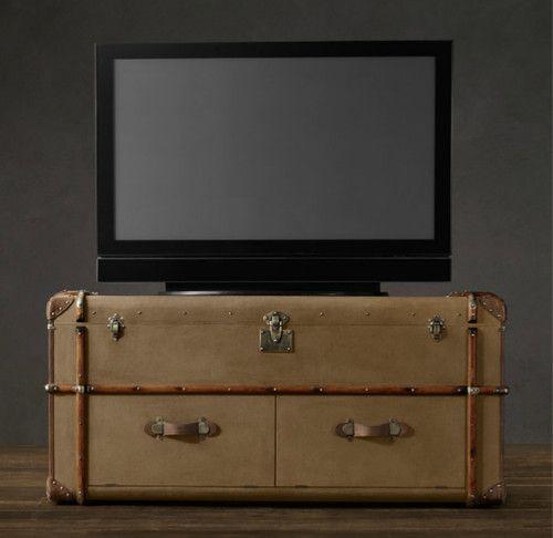 Richard's Canvas Media - traditional - media storage - - by Restoration Hardware