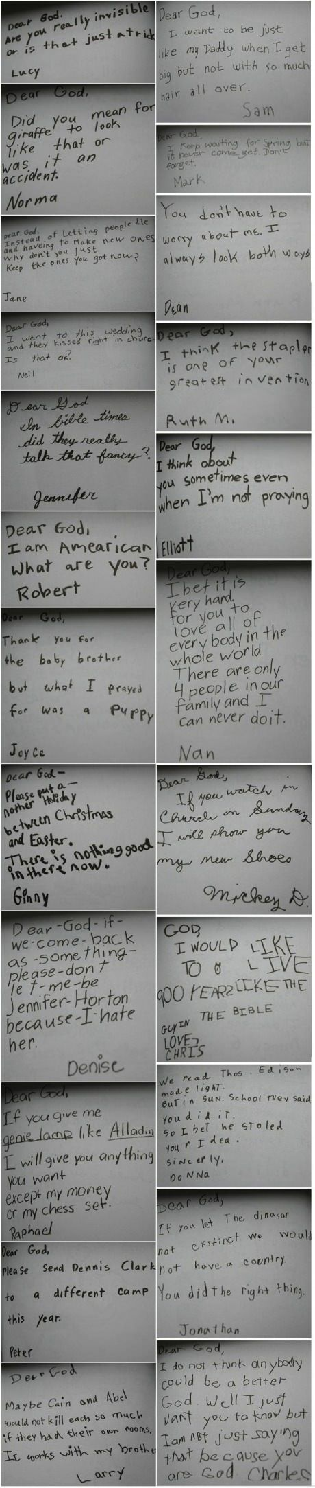 When kids write letters to God.