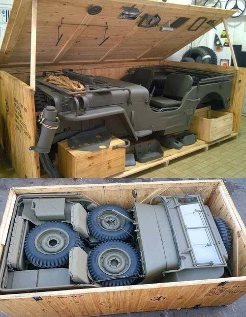 WW2 Jeep                                                          in shipping                                                          container