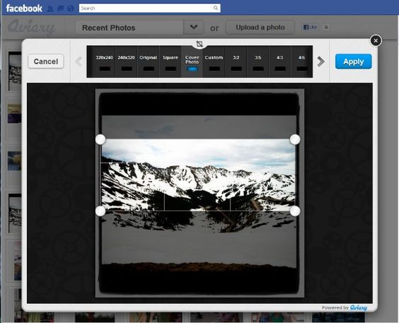 This tool perfectly crops your Cover Photo for Facebook Timeline