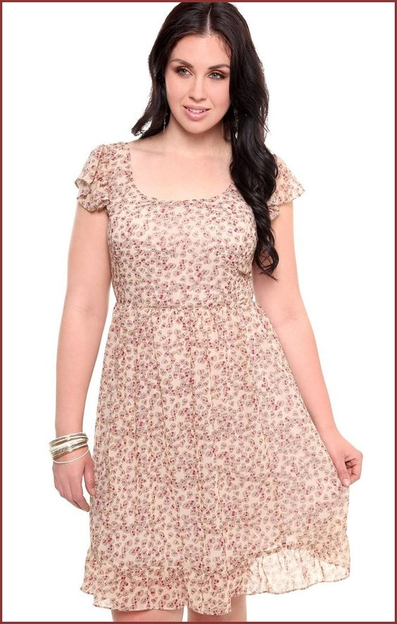Summer plus size Casual Dresses - ... NYC Chiffon Casual Dress for ...