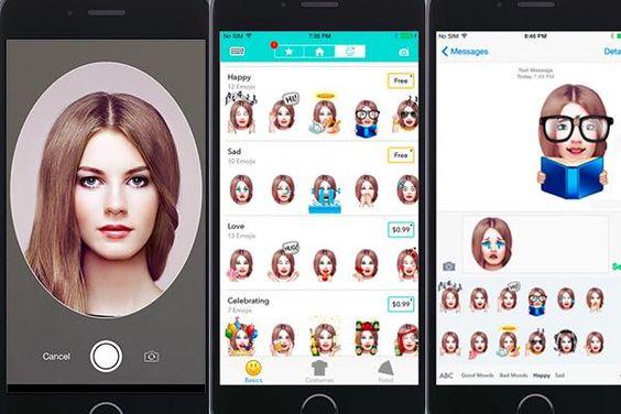 Turn your face into an emoji  #app #iphone #ios #emoji #emojiface