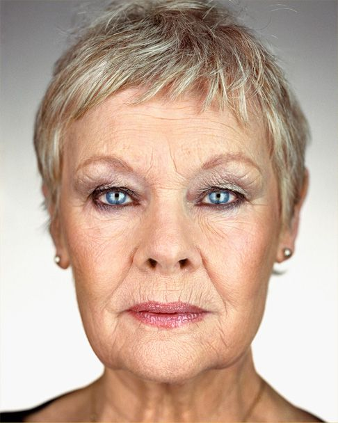 Dame Judith, great example of a woman who's beautiful without being airbrushed to within an inch of her life.  The slight wrinkles and sags here and there are who she is and she IS beautiful!