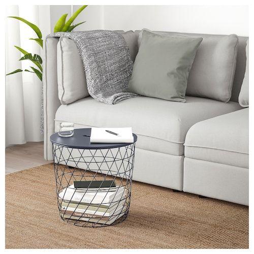 Tavolino Contenitore Da Salotto Ikea.Kvistbro Tavolino Contenitore Blu Scuro Salotto Nel 2019