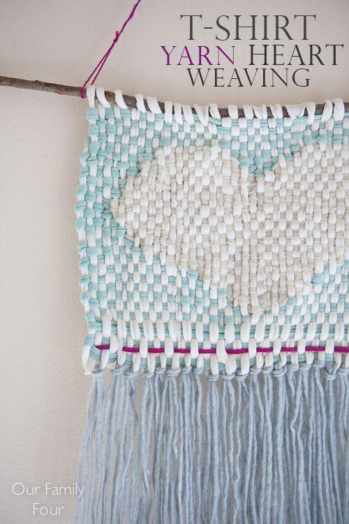 DIY heart wall weaving - by @erinkeith05