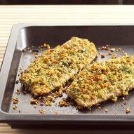 Meerval met kaas-kruidenkorstje