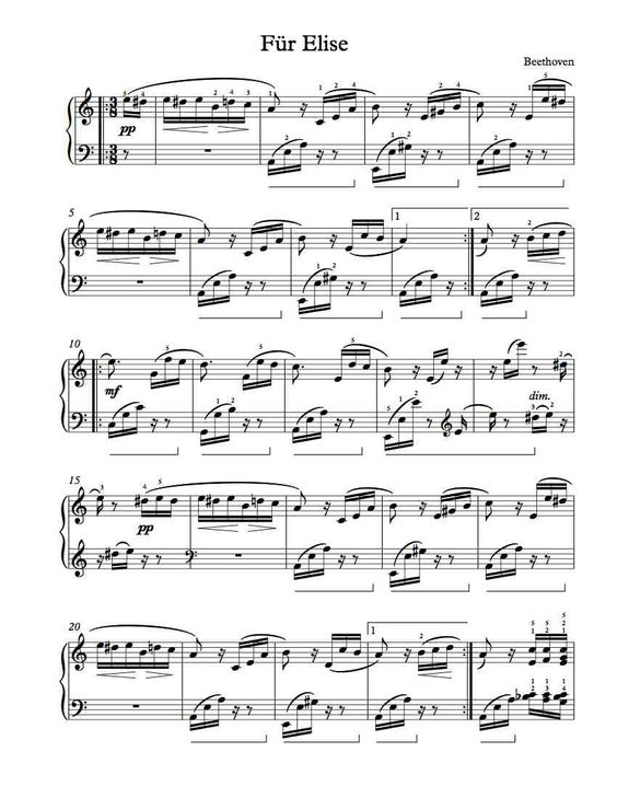 Piano fur elise piano tabs : Pinterest • The world's catalog of ideas