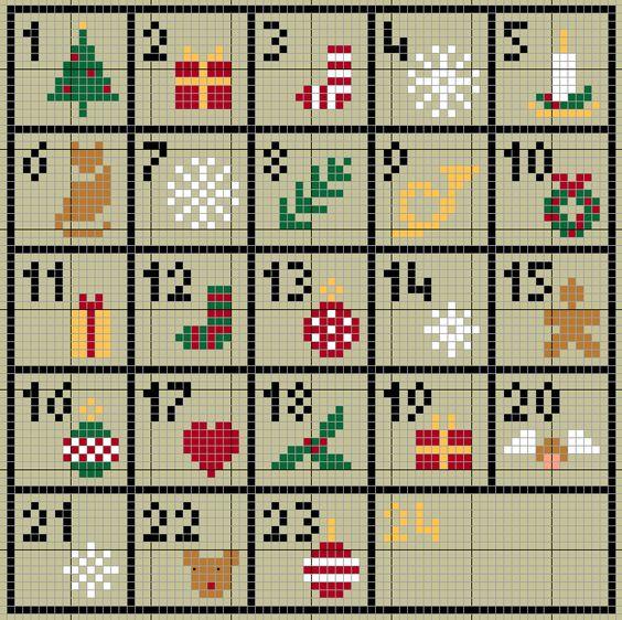 Points de couture avent and calendrier de l 39 avent on pinterest - Calendrier de l avent pinterest ...