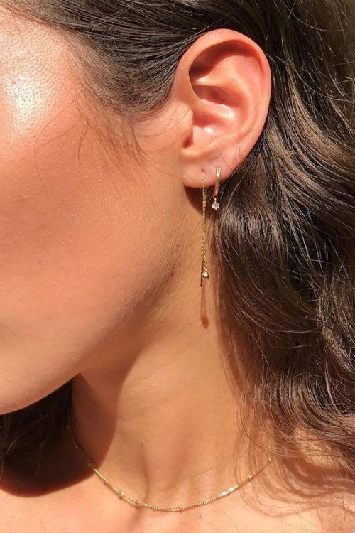 Damen Ohrstecker Silber 925 Fisch Hoop Ohrringe Trend Geschenk Women earring Neu