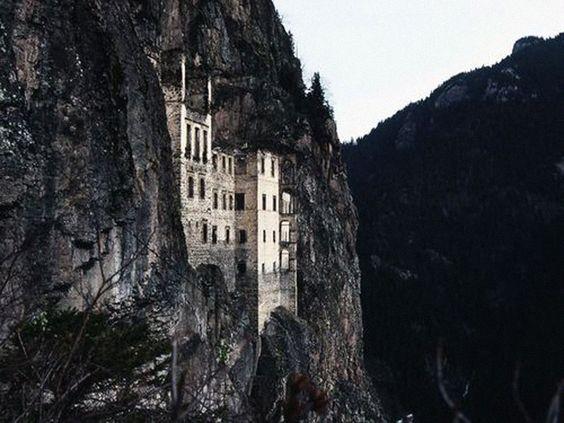 mountainside castles
