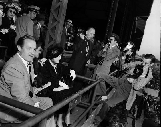 Bob Hope at the Kentucky Derby, Louisville, Ky.,. 1950's