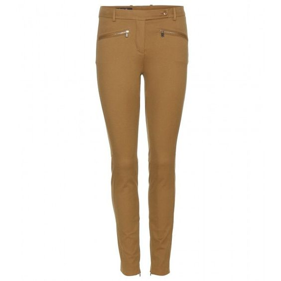 Loro Piana Devin Jeans (€590) ❤ liked on Polyvore featuring jeans, pants, brown, loro piana, brown jeans and white jeans