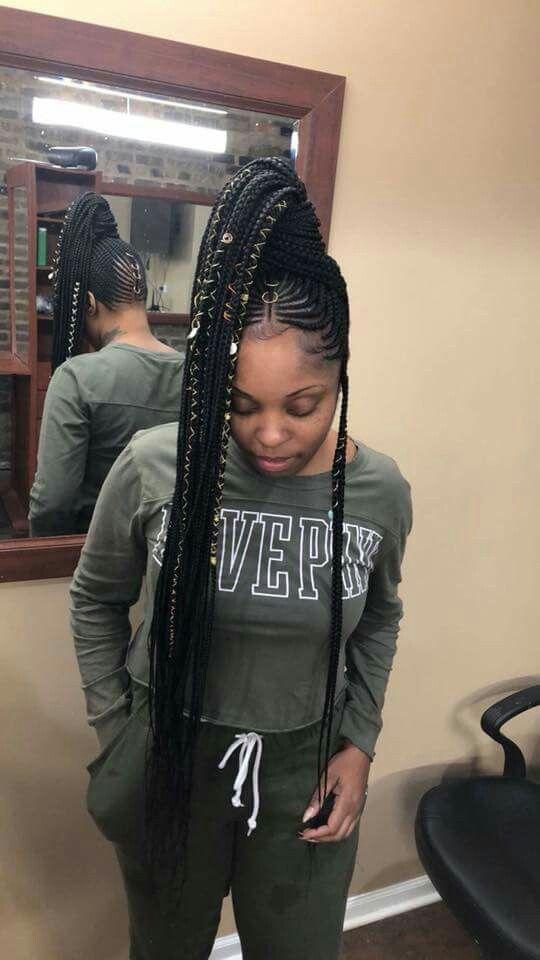 Pin By Lavish Fashions On Braids Cornrow Hairstyles Black Ponytail Hairstyles Braided Ponytail Hairstyles