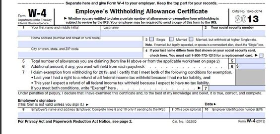 Download 2013 W-4 Form Federal Tax Form special stuff Pinterest - direct debit form