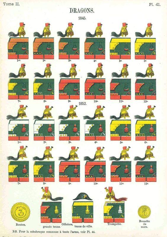 Dragons. 1845 Uniformes de I'Armee Francaise 1690-1894