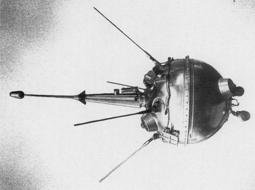 The first ever man made thing to be sent to the Moon was the USSR's Luna 2 in 1959