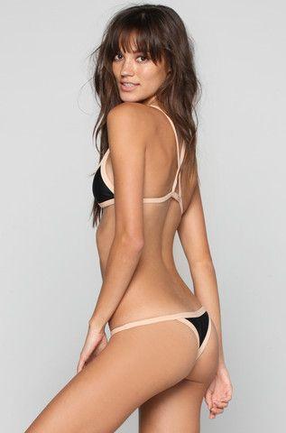 Kainalu Bikini Top in Black/Bare