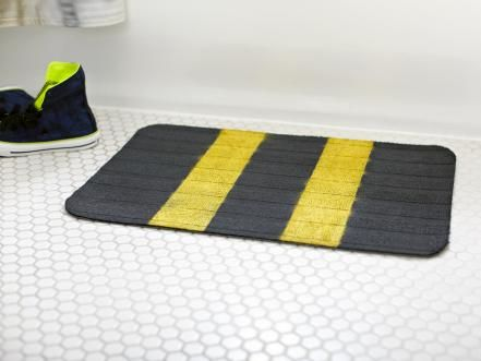 Think about it. You step onto your bathmat completely wet on the daily. To keep it fresh (and to keep mildew away), hang it to dry after every use, and stick it in the washer once a week.