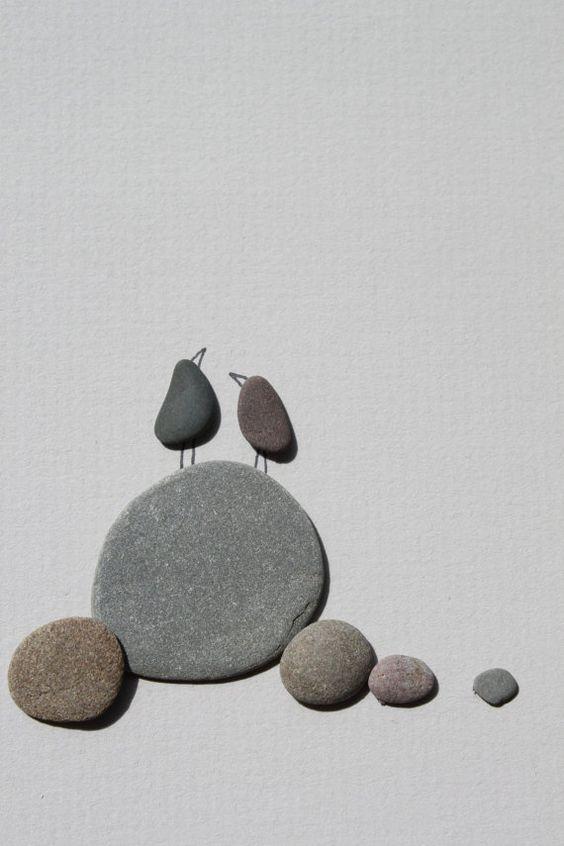 Pebble Art of NS by Sharon Nowlan por PebbleArt en Etsy                                                                                                                                                                                 Mais: