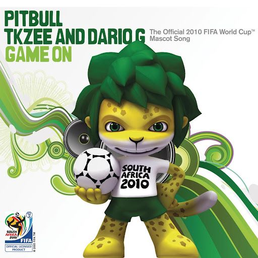 Game On The Official 2010 Fifa World Cup Tm Mascot Song Pitbull Tkzee And Dario G World Cup Games Fifa World Cup Game Fifa World Cup