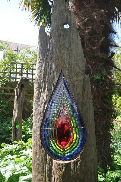 Louise v durham stained glass sculptures stained glass for How to make stained glass in driftwood