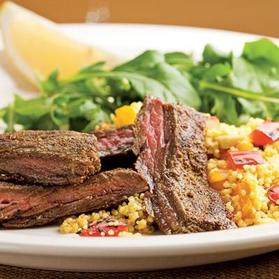 Moroccan Skirt Steak with Roasted Pepper Couscous Recipe Share ...