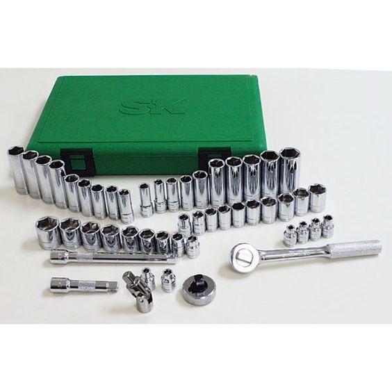 SK Tools Sae / Metric Socket Set, 3/8 Inch Drive, 49 Piece  94549