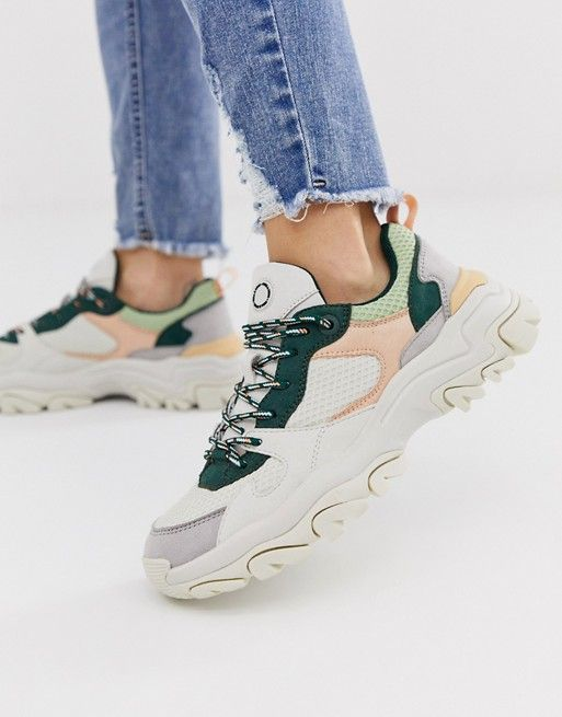 Pull Bear Multi Panel Hiker Trainers In Multi Asos Womens Boots Leather Flip Flop Sandals Sneakers