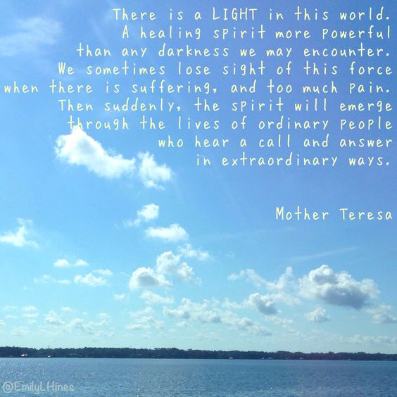 Reminded of this Mother Teresa quote as we drove over the Buckman Bridge this past weekend. I was in awe over how the sunlight reflected on the water and illuminated the clouds. This picture does not do it justice. #floridalife #motherteresa #lightworker
