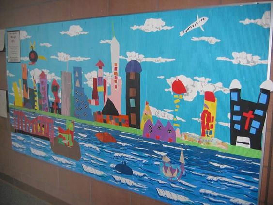 Have kids work on bulletin boards when they finish a for Chicago mural group