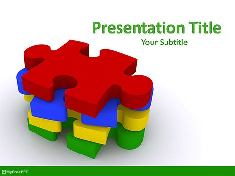 Download Ready To Use Free Jigsaw Puzzle Powerpoint Template