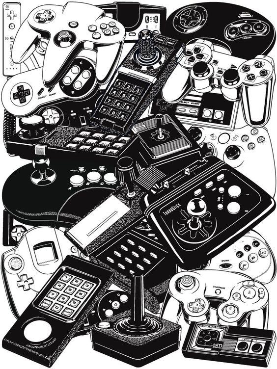 Yves-José Malgorn – Retrogaming – Joysticks & Controllers | Geek Art – Art, Design, Illustration & Pop Culture ! | Art, Design, Illustration & Pop Culture !