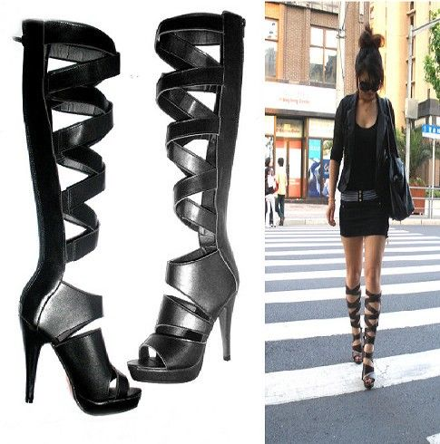 High Heel Gladiator Sandal Boots