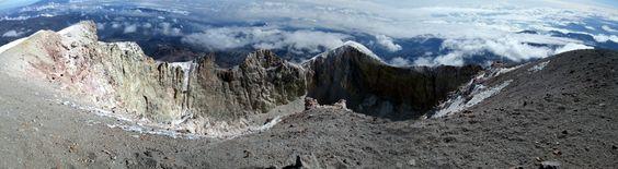 Pico de Orizaba's crater, Mexico