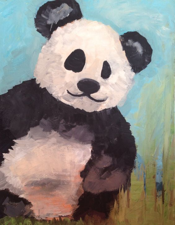 Panda painting by Stephanie Spears