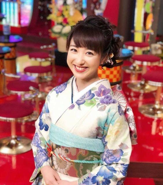 川田裕美アナウンサーの着物