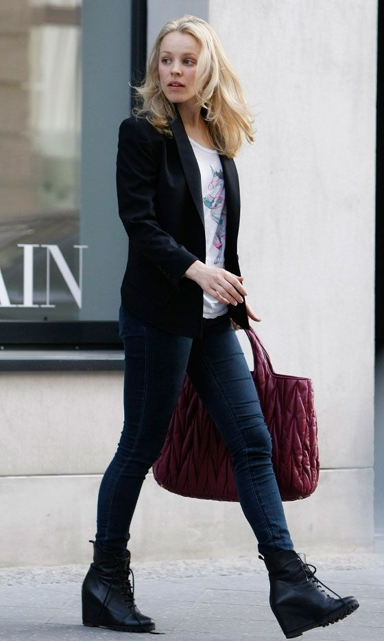 Love Rachel's shoes and bag!
