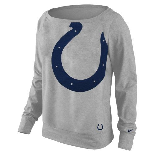 Nike Indianapolis Colts Ladies Wildcard Epic Crew Performance Sweatshirt - Ash