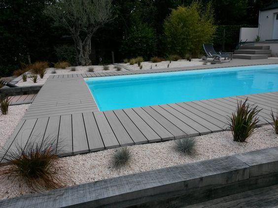 Les lames de terrasse en bois composite pour border votre piscine