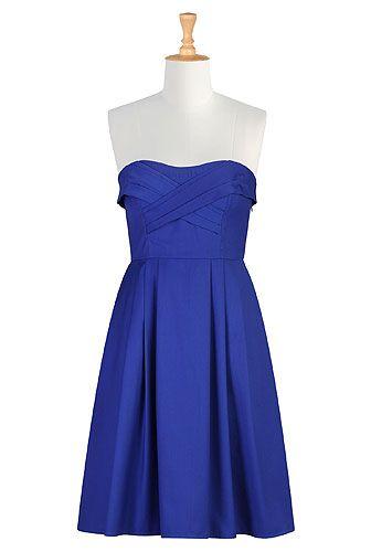 Go blue strapless dress
