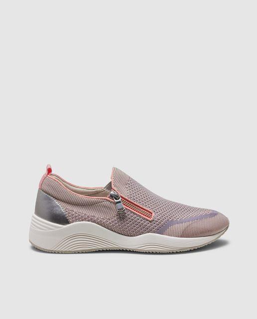 Nueva York precio atractivo zapatos de temperamento Zapatillas deportivas de mujer Geox de color rosa con cierre de ...