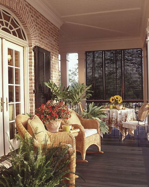 Southern Style Front Porches And Blinds Ideas On Pinterest